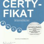 Certyfikat - Uzupełnienia na implantach