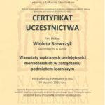 Szewczyk Wioleta - certyfikaty inne-11