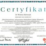 Szewczyk Wioleta - certyfikaty ortodoncja-3