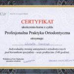 Szewczyk Wioleta - certyfikaty ortodoncja-4