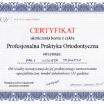 Szewczyk Wioleta - certyfikaty ortodoncja-5