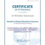 Wioleta Szewczyk - certyfikaty medycyna estetyczna-03