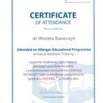 Wioleta Szewczyk - certyfikaty medycyna estetyczna-05