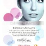 Wioleta Szewczyk - certyfikaty medycyna estetyczna-06