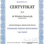 Wioleta Szewczyk - certyfikaty medycyna estetyczna-08