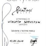 Wioleta Szewczyk - certyfikaty medycyna estetyczna-09